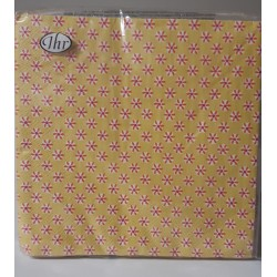 Yellow paper napkins with...