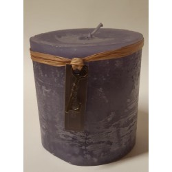 Plum colored candle