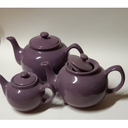 6-cup plum-colored teapot...